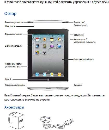 инструкция ipad 4 на русском скачать